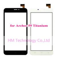 al por mayor lcd 59-TP negro / blanco al por mayor para el panel de cristal titanium del digitizador de la pantalla táctil de Archos 59 / 5.9