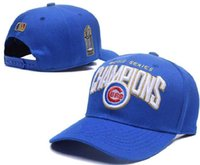 Wholesale New Cubs World Series Champs Sports Hats Front Logo Adjustable Hats Adult Baseball Caps