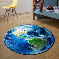 Wholesale 3D Earth Printing Round Carpet CM CM CM CM Rug tapijt loper Carpet Living Room Deurmat Dier rugs mats tapis chambre