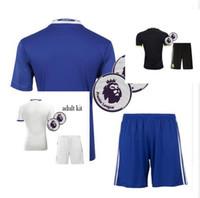 Wholesale Benwon Home Blue Soccer sets PEDRO OSCAR FABREGAS HAZARD DIEGO COSTA men top thai quality Football uniform kits