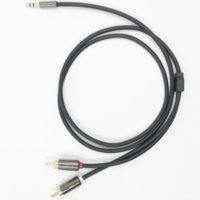 Wholesale Lamchin Loly Hifi RCA Jack Audio metal cable mm male to male M M for TV computer VCD DVD MP3