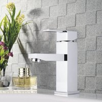 Wholesale Chrome Brass Square Handle Bathroom Basin Faucet Tap Toilet Water Faucet Hot Cold Basin Sink Mixer Taps