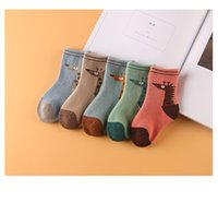 bay socks - Autumn Winter Children High Quality Pure Cotton Socks Stockings Creative Bays And Girls Baby Giraffe Children Socks