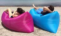 Wholesale DHL Lounge Sleep Bag Lazy Inflatable Beanbag Sofa Chair Living Room Bean Bag Cushion Outdoor Self Inflated Beanbag Furniture