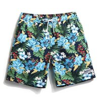 achat en gros de xxxl boardshorts-New Hawaii Style mode Quick-drying hommes femmes short plage maillots de bain surf boardshorts loose couple short plage polaire