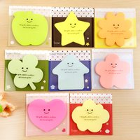 Wholesale Office and school supplies Lovely notes sticky note simple sticky note convient fashion cute childish gift girly heart star sheep teddy