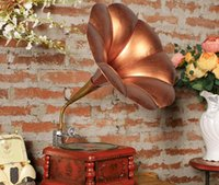 antique work boxes - The new creative retro gramophone classical music box handmade work color can rotate the handle the exquisite European style pattern