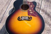 Райма на заказ гитара 43 дюйма Угол, пропавшие ель панели шпона, фанеры lientang клена, палисандровой накладкой, литейный ярлык шеи