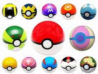 Wholesale Pikachu Style cm Cute Pocket Poke Ball With A Base Pokeball Classic Anime Pikachu Super Master Ball Action Figures Kids Toys Gift