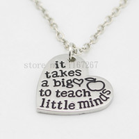 appreciation gifts - new arrive Teacher s Necklace Teacher Appreciation Gifts quot It Takes a Big Heart to Teach Little Minds quot Silver heart Necklace