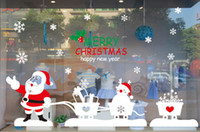 Wholesale Large Stick Static Cling cm Wall Decal New Year Christmas Decoration Stickers Santa Claus