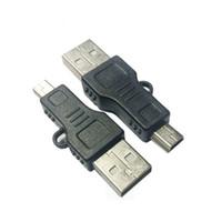 USB mâle à 5 broches mâle câble pour MP3 MP4 connecteur adaptateur convertor couleur noire 48mm longueur Livraison gratuite
