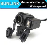 Wholesale Waterproof Power Socket USB for Motorcycle Motorbike V Cigarette Lighter V USB Power Port Adaptor Outlet Charger