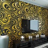 Papéis de Parede Modernos Papéis de Parede Não-Tecidos Modernos Papéis de Parede de Sala de Estar Sofa TV Wall Covering Decor JC0332