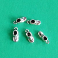 baby birthstone charm - D Antique Sivler Plated Birthstone Baby Shoe Charm for June Baby Shower Jewelry Findings mm jewelry making