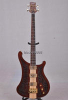 Wholesale In stock string bass guitar neck through body carved Carving patterns top bass guitar electric