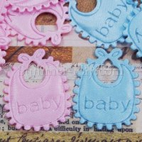 Wholesale baby bib applique scrapbook accessory baby shower party decoration diy candy box accessory
