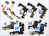 Wholesale For iPhone s C S Plus Headphone Audio Jack Dock Charger Charging Connector Flex Cable Ribbon Black or White DHL Free