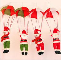 Wholesale Christmas Decorations Hanging Christmas Decorations Parachute Santa Claus Snowman Ornaments For Christmas Indoor Decorations Xmas Gift