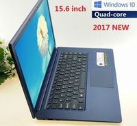 intel bleu achat en gros de-2017 nouveau 15,6 pouces Quad Core Win10 Ordinateurs portables NOTEBOOK 4GB HDD 64Go ROM Ordinateur portable Intel Atom x5-Z8300 Graphiques HD X64 Netbook Ordinateurs portables bleu
