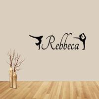 Precio de Calcomanías de decoración de la habitación-Personalizadas gimnasia vinilo divertido pared desprendible arte chicas dormitorio sala de estar etiqueta accesorios decorar diy