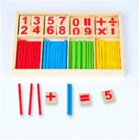 Wholesale Learning Toys Education Baby Kid Children Wooden Counting Math Game Mathematics Toys Kids Preschool Education Intelligence Stick Figures Box