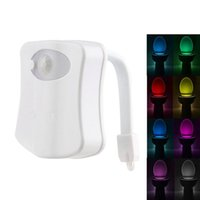 battery powered motion activated light - LED Toilet Bowl Light Lamp with Motion Sensor Activated Seat Lampada for Bathroom WC Lighting Luminaire Battery Powered Colors Changing CE