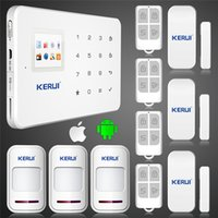 app touch screen - KERUI G18 ios android app GSM home alarm system with touch screen TFT color display Easy Operation
