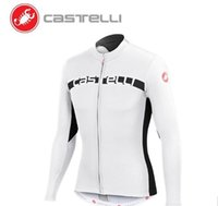 Wholesale Castelli Autumn - 2016 Castelli LOng Cycling Jerseys Autumn Winter Thermal Fleece Ropa Ciclismo Long Sleeves Bike Wear Close Fit Bicycle Clothin