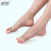 Wholesale Sexy Toes Tights - Wholesale-Lady Girl Female Nylon Sheer Open toe Stockings Invisible Thin Tights Ultra Slim Sexy Collant Pantyhose Medias Pantis Tights