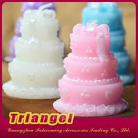 Velas agradables de calidad superior de la torta de cumpleaños del favor de la boda del envío libre para la decoración 20pcs / lot de la fiesta de Navidad del cumpleaños de la boda