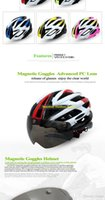 Wholesale BATFOX Cycling Helmet Ultralight Safe Road MTB Mountain Bike Bicycle Motocycle Motocross Helmet With Magnetic Goggles And Light