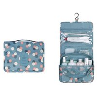 Wholesale Waterproof Travel Kit Organizer Bathroom Storage Cosmetic Bag Carry Case Toiletry Bag with Hanging Hook