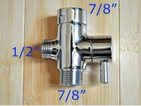 Wholesale Bathroom accessories Brass water separator lever handle copper Angle Valve Ways quot MALE quot FEMALE quot MALE USA CANADA market only