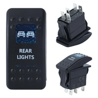 Wholesale 5 pin dual in blue light ON OFF Rocker Switch Reverse LED Blue Light SPST DC V