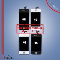 Pour écran LCD Grade A +++ iPhone 4 iphone 4s GSM avec écran tactile Digitizer remplacement 30 pcs / lot