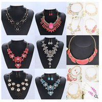 beach wedding jewelry sets - 25 deisgns DHL free Bridal pendant Necklaces zircon chain earrings necklace sets high end Fashion Bohemian Bikini Beach women jewelry gifts