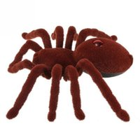 Wholesale New Holiday Simulation Remote Control quot Channel Realistic RC Spider Eyes Shine Tricky Scary Toy Prank Gift Model
