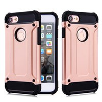 armor steels - Steel Hybrid in TPU PC Armor Shockproof Protective Back Cover Cases For iPhone S Plus Sumsung Galaxy S6 S7 LG