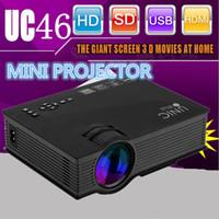 achat en gros de airplay sans fil-Grossiste Unic UC46 sans fil WIFI mini projecteur portable 1200 Lumen 800 x 480 Full HD LED Vidéo Home Cinema support Miracast DLNA Airplay