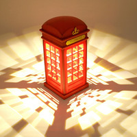 Wholesale Brand New London phone booth retro design LED Nightlight USB charging ambient lighting M0M0 Manufacturers provide