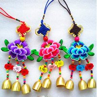 Wholesale Embroidery Art of decorating textiles with needle and thread Campanula Pendant Cloth sachet crafts sachet