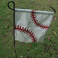 Wholesale Baseball Canvas Flag Blanks Softball Flag Gargen Flag Home Decoration Door Hanger Support Your Team DOM106316