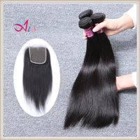 Ais Straight Hair Bundle 1B color brasileño malasio peruano real pelo humano teje 8-28