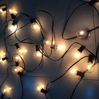 backyard weddings - Christmas Season G40 Globe Light String Outdoor Waterproof String Light M Bulbs Garland for Patio Backyard Wedding