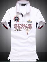 Wholesale Aeronautica Militare Men Polo Shirt Mens Short Sleeve Italia Shirts Camisa Polos Masculina Casual cotton Air force one Tops Tees