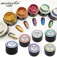 Wholesale New Arrival g Nail Glitter Powder Bling Mirror Shinning Eye Shadow Makeup Powder Dust Nail Art DIY Chrome Pigment Glitters DR50