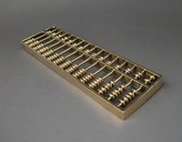 abacus calculators - Details about Collectible Chinese Tibetan Brass carved Abacus Calculator