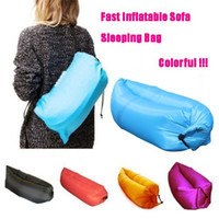 Wholesale Fast Inflatable Sofa Sleeping Bag Outdoor Air Sleep Sofa Couch Portable Furniture Sleeping Hangout Lounger Inflate Air Bed dhl OTH238