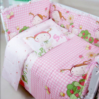 Wholesale Customized Size Infant Baby Kids Cot Crib Bedding Sets Include Pillow Bumpers Mattress Quilt Baby Cot Bedclothes Decoration